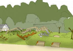 Sketch idea of new play area