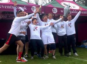 Winning team celebrating
