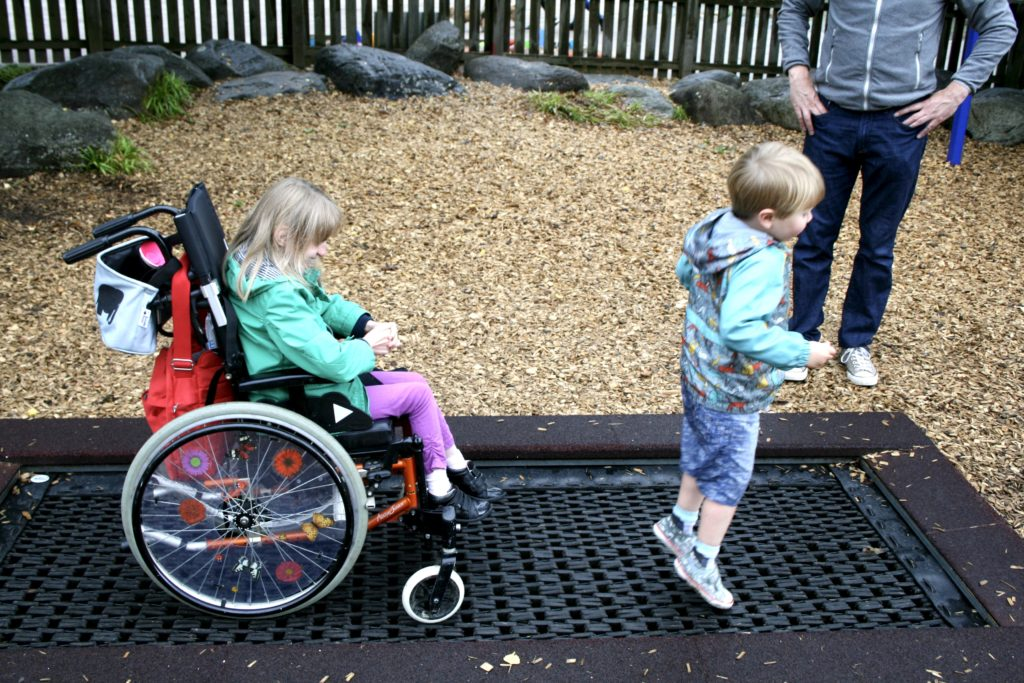 Accessible trampoline