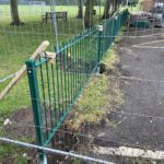 Repurposing the green fence in a new location